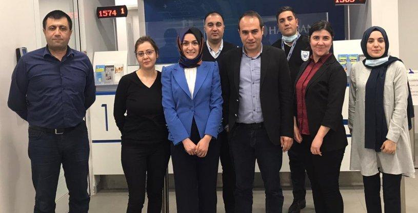 ERZURUM HALKBANK CUMHURİYET ŞUBESİ ZİYARET EDİLDİ