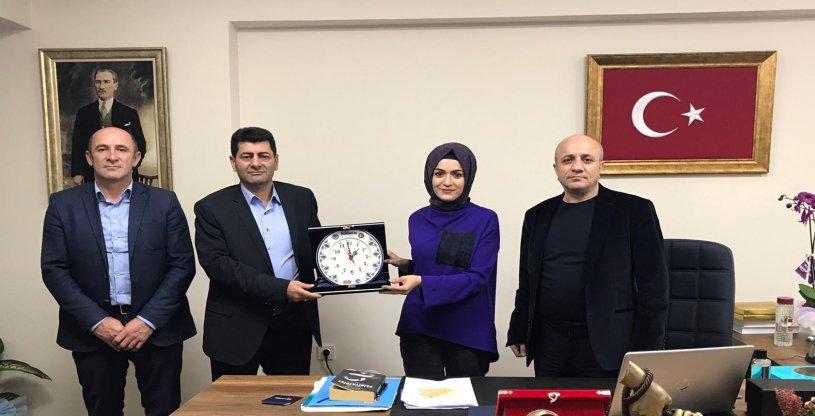 ERZURUM HAK-İŞ BAŞKANI, SAVAŞ'I ZİYARET ETTİ